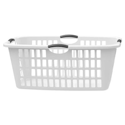 Rectangular Jumbo Laundry Basket - White