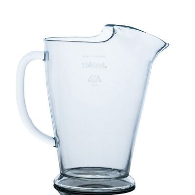 Polycarbonate Conical ice lip pitcher San 1140ml; Pack Qty 1