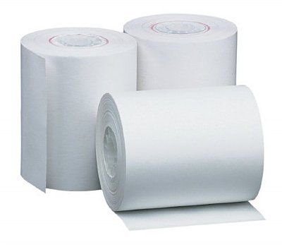 57 x 35mm White Thermal Paper Register EFT Roll - Pack Qty 4