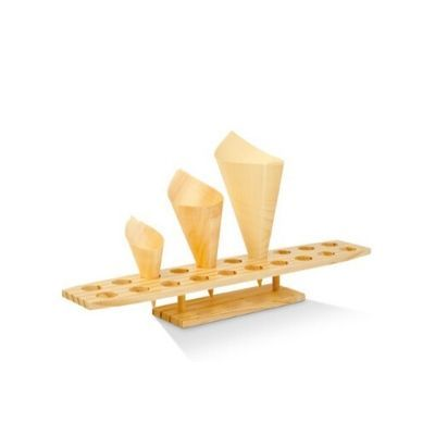 Wood Cone Stand With 20 Holes Pack Qty 1
