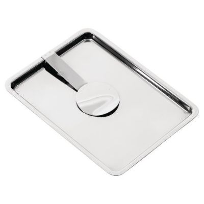 Olympia Curved Stainless Steel Tip Tray With Bill Clip ; 10(H) x