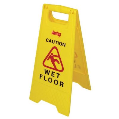 Jantex Wet Floor Sign ; Free standing, two sided sign.